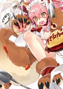 Rating: Safe Score: 19 Tags: animal_ears fate/grand_order kou_mashiro maid naked_apron tail tamamo_cat User: Mr_GT