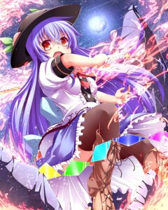 Rating: Safe Score: 28 Tags: hinanawi_tenshi sword thighhighs touhou wakagi_repa User: 椎名深夏