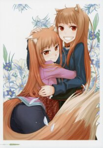 Rating: Safe Score: 10 Tags: animal_ears ayakura_juu holo koume_keito possible_duplicate spice_and_wolf tail User: kiyoe