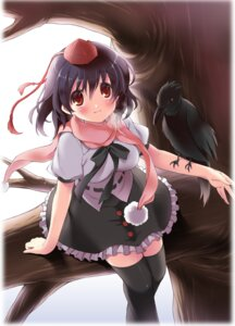 Rating: Safe Score: 15 Tags: pan shameimaru_aya thighhighs touhou User: fairyren