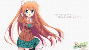 Rating: Safe Score: 35 Tags: ootori_chihaya rewrite seifuku tagme thighhighs wallpaper User: moonian