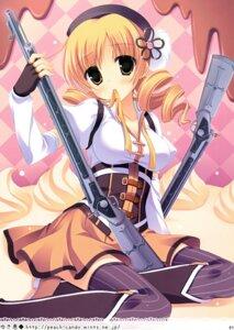 Rating: Safe Score: 64 Tags: gun puella_magi_madoka_magica thighhighs tomoe_mami yukie User: Hatsukoi