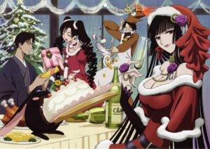 Rating: Safe Score: 12 Tags: christmas cleavage doumeki_shizuka ichihara_yuuko kimono kunogi_himawari megane screening watanuki_kimihiro xxxholic User: charunetra