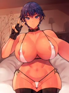 Rating: Questionable Score: 10 Tags: areola bikini erect_nipples megaten nipples persona persona_4 shirogane_naoto swimsuits thighhighs thong tokyokyoto User: Werewolverine4