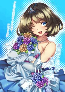 Rating: Safe Score: 24 Tags: dress merufena takagaki_kaede the_idolm@ster the_idolm@ster_cinderella_girls wedding_dress User: Mr_GT