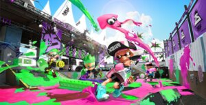 Rating: Safe Score: 6 Tags: bike_shorts gun headphones inkling_(splatoon) nintendo pointy_ears splatoon User: fly24
