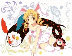 Rating: Safe Score: 80 Tags: animal_ears bunny_ears charlotte_(puella_magi_madoka_magica) dress puella_magi_madoka_magica thighhighs tomoe_mami yamasan User: Nekotsúh