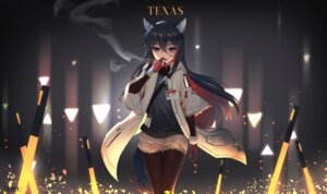Rating: Questionable Score: 14 Tags: animal_ears arknights pantyhose smoking sword tagme texas_(arknights) User: Mr_GT