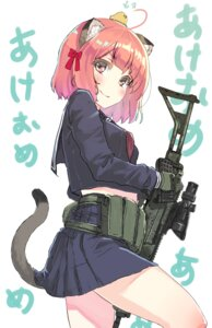 Rating: Safe Score: 34 Tags: animal_ears gun nekomimi oota_youjo seifuku tail User: Mr_GT