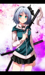 Rating: Safe Score: 17 Tags: konpaku_youmu s-syogo sword touhou User: charunetra