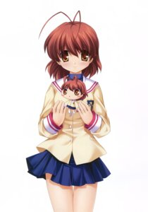Rating: Safe Score: 6 Tags: chibi clannad furukawa_nagisa hinoue_itaru key seifuku sweater User: marechal