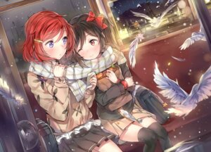 Rating: Safe Score: 101 Tags: love_live! nishikino_maki seifuku thighhighs yazawa_nico yuran User: Mr_GT