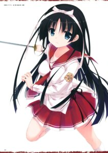 Rating: Safe Score: 56 Tags: hidan_no_aria hotogi_shirayuki kobuichi seifuku sword User: Twinsenzw