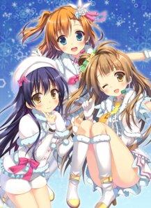 Rating: Safe Score: 50 Tags: dress heels kousaka_honoka love_live! minami_kotori pantsu saeki_nao sonoda_umi User: fairyren