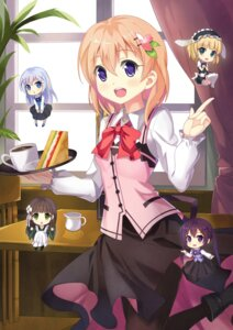 Rating: Questionable Score: 21 Tags: chibi dance_of_eternity gochuumon_wa_usagi_desu_ka? pantyhose thighhighs waitress User: sylver650