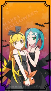Rating: Safe Score: 37 Tags: dress halloween monogatari_(series) ononoki_yotsugi oshino_shinobu watanabe_akio User: SubaruSumeragi