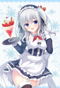 Rating: Questionable Score: 124 Tags: cleavage kantai_collection kashima_(kancolle) maid stockings thighhighs tomoo User: Mr_GT