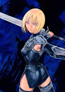 Rating: Safe Score: 8 Tags: armor clare claymore sword thighhighs User: Radioactive