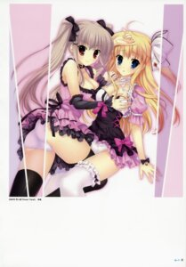Rating: Questionable Score: 50 Tags: breast_grab cleavage mitha pantsu thighhighs yuri User: YamatoBomber