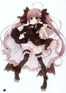 Rating: Safe Score: 44 Tags: ange_vierge dress gothic_lolita horns inugami_kira lolita_fashion sofina tail thighhighs wings User: Hatsukoi