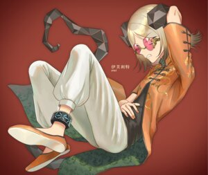 Rating: Questionable Score: 5 Tags: arknights asian_clothes horns ifrit_(arknights) makkuro megane User: Dreista
