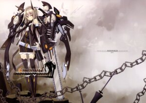 Rating: Safe Score: 43 Tags: asahiage chainsaw crease fixme mecha_musume poco thighhighs User: fireattack