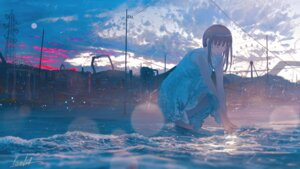 Rating: Safe Score: 51 Tags: banishment dress landscape see_through summer_dress wet User: kasuie