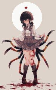 Rating: Safe Score: 29 Tags: blood heterochromia monster_girl seifuku skirt_lift y_o_u_k_a User: Mr_GT
