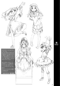 Rating: Safe Score: 8 Tags: 5_nenme_no_houkago dress kantoku monochrome sketch weapon User: Hatsukoi