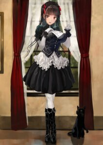 Rating: Safe Score: 55 Tags: bob dress gothic_lolita lolita_fashion neko pantyhose User: BattlequeenYume