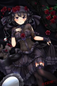 Rating: Safe Score: 41 Tags: dress gothic_lolita lolita_fashion omoomomo see_through skirt_lift stockings thighhighs User: Mr_GT