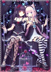 Rating: Safe Score: 115 Tags: animal_ears chocola fishnets gothic_lolita lolita_fashion nekomimi sayori stockings thighhighs vanilla User: Aurelia