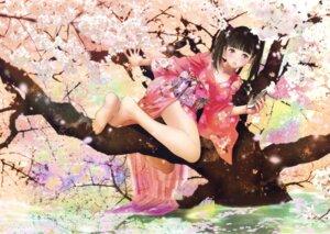 Rating: Safe Score: 32 Tags: cleavage feet kimono mikimoto_haruhiko User: Twinsenzw