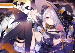 Rating: Questionable Score: 24 Tags: bloomers garter halloween loli pointy_ears thighhighs wings witch yuge User: drop
