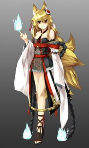 Rating: Safe Score: 31 Tags: animal_ears kitsune tail takanashie User: fairyren