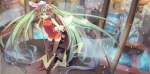 Rating: Safe Score: 24 Tags: animal_ears bunny_ears chinadress hatsune_miku nuage thighhighs vocaloid User: Radioactive