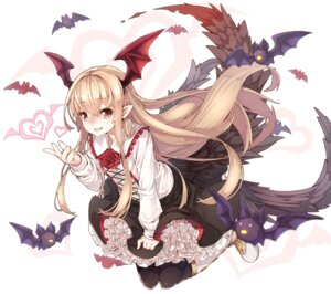 Rating: Safe Score: 49 Tags: gothic_lolita granblue_fantasy lolita_fashion namake pointy_ears tail vampy_(granblue_fantasy) wings User: Mr_GT