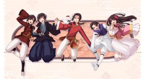 Rating: Safe Score: 10 Tags: china hetalia_axis_powers hong_kong japan korea taiwan yuuta_(artist) User: Amperrior