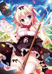 Rating: Questionable Score: 33 Tags: garter maid neko nopan shiromochi_sakura skirt_lift thighhighs User: Twinsenzw