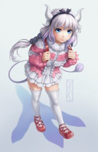 Rating: Safe Score: 17 Tags: horns kanna_kamui kobayashi-san_chi_no_maid_dragon kotikomori tail thighhighs User: charunetra