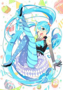 Rating: Safe Score: 35 Tags: dress hatsune_miku heels ikari_(aor3507) pantyhose tattoo vocaloid User: Mr_GT