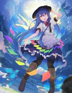 Rating: Safe Score: 29 Tags: hinanawi_tenshi rin_falcon thighhighs touhou User: Dreista