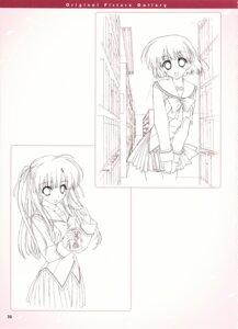 Rating: Safe Score: 9 Tags: boy_meets_girl kasugano_haruna monochrome seifuku shintarou sketch tsubasa_miu User: admin2