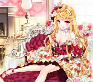 Rating: Safe Score: 80 Tags: cinia_pacifica cleavage cocoon_(loveririn) cream dress heels ponytail sword_girls User: yong