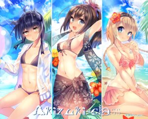 Rating: Questionable Score: 66 Tags: akizuki_(kancolle) bikini cis_(carcharias) cleavage erect_nipples hatsuzuki_(kancolle) kantai_collection open_shirt see_through swimsuits teruzuki_(kancolle) wet_clothes User: Mr_GT