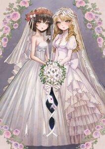 Rating: Safe Score: 17 Tags: cleavage dress takatora wedding_dress User: blooregardo