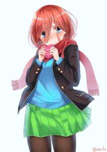 Rating: Safe Score: 16 Tags: 5-toubun_no_hanayome honorikiti nakano_miku pantyhose seifuku sweater valentine User: charunetra