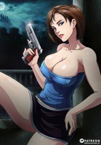 Rating: Questionable Score: 11 Tags: erect_nipples gun jill_valentine no_bra resident_evil sano_br skirt_lift User: Werewolverine4