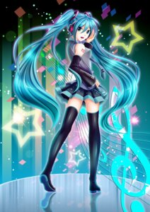Rating: Questionable Score: 40 Tags: hatsune_miku headphones oolong_tea tattoo thighhighs vocaloid User: gnarf1975