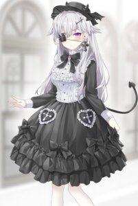 Rating: Safe Score: 15 Tags: dress eyepatch gothic_lolita lolita_fashion ronopu tail User: Mr_GT